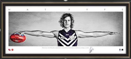 Nat Fyfe Fremantle Dockers AFL Framed Wings Tribute