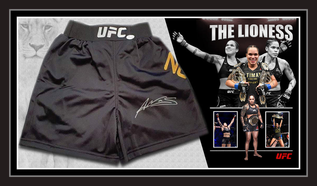 "Amanda NUNES ""The Lioness"" Signed UFC Trunks with James Spence Authentication !!!"