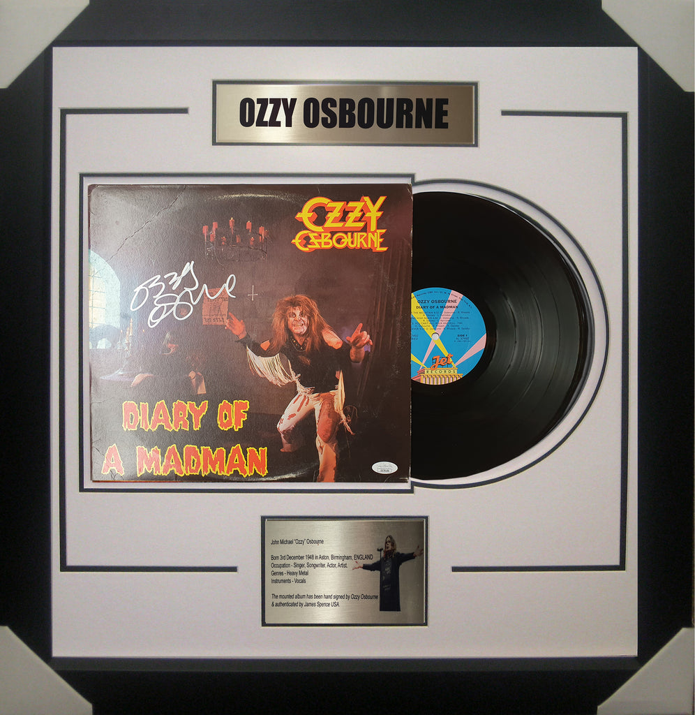 Ozzy Osbourne Signed & Framed Vinyl Album James Spence JSA Authenticated GG78186