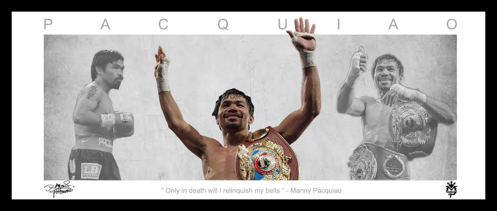 Manny Pacquiao 'Pacman' Framed Wings Lithograph