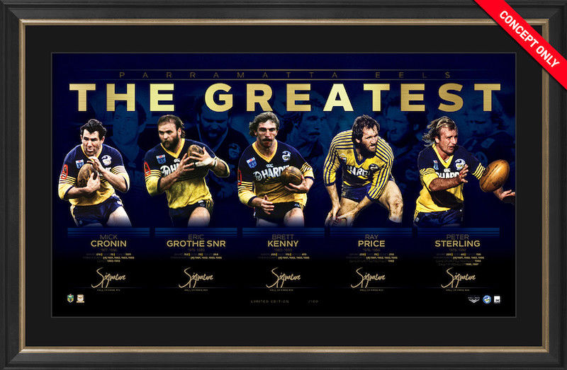 Parramatta Eels The Greatest Signed & Framed Limited Edition Lithograph - Limited Edition of 100 only !