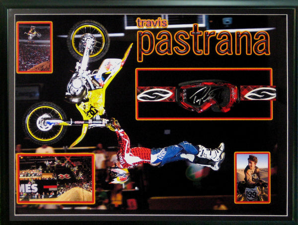 Travis Pastrana Nitro Circus Signed & Framed Official Goggles