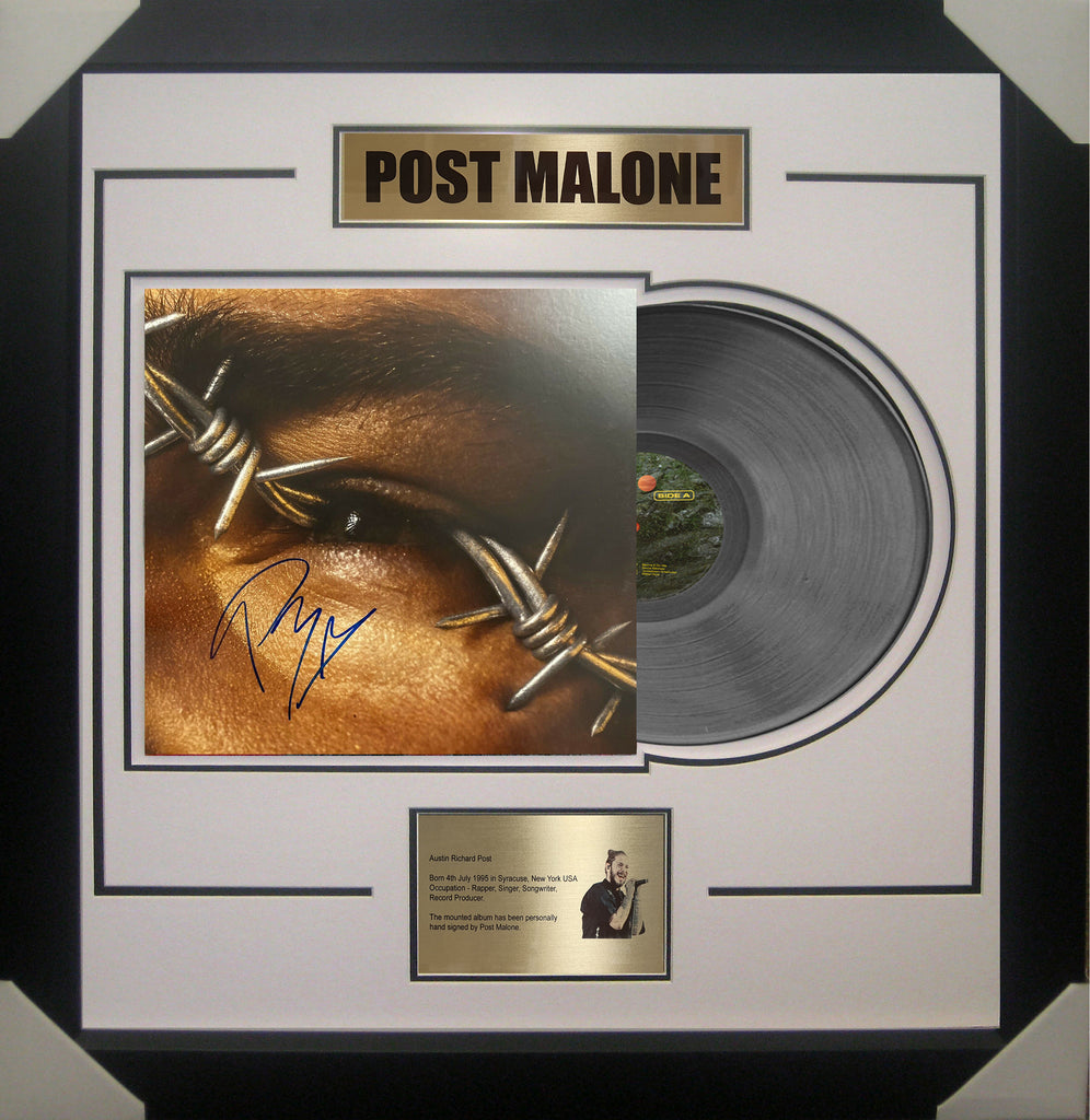 POST MALONE SIGNED VINYL ALBUM JAMES SPENCE JSA USA Authenticated