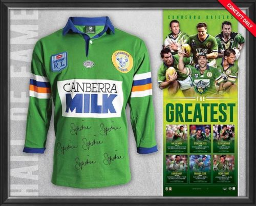 Canberra Raiders Signed 'The Greatest' NRL Jersey Framed