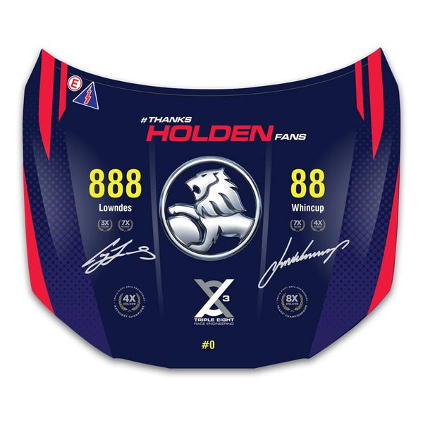 Triple Eight Dual Signed Holden VF Commodore Bonnet - Limited Edition of 88