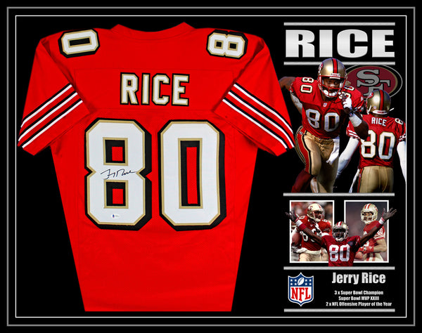 Jerry RICE San Francisco 49ers Signed & Framed Jersey with Beckett Authentication
