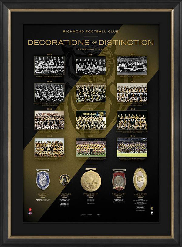 Richmond Tigers Decorations of Distinction AFL Limited Edition