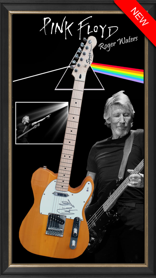 PINK FLOYD ROGER WATERS – SIGNED & FRAMED ELECTRIC GUITAR AUTHENTICATED BY BECKETT USA