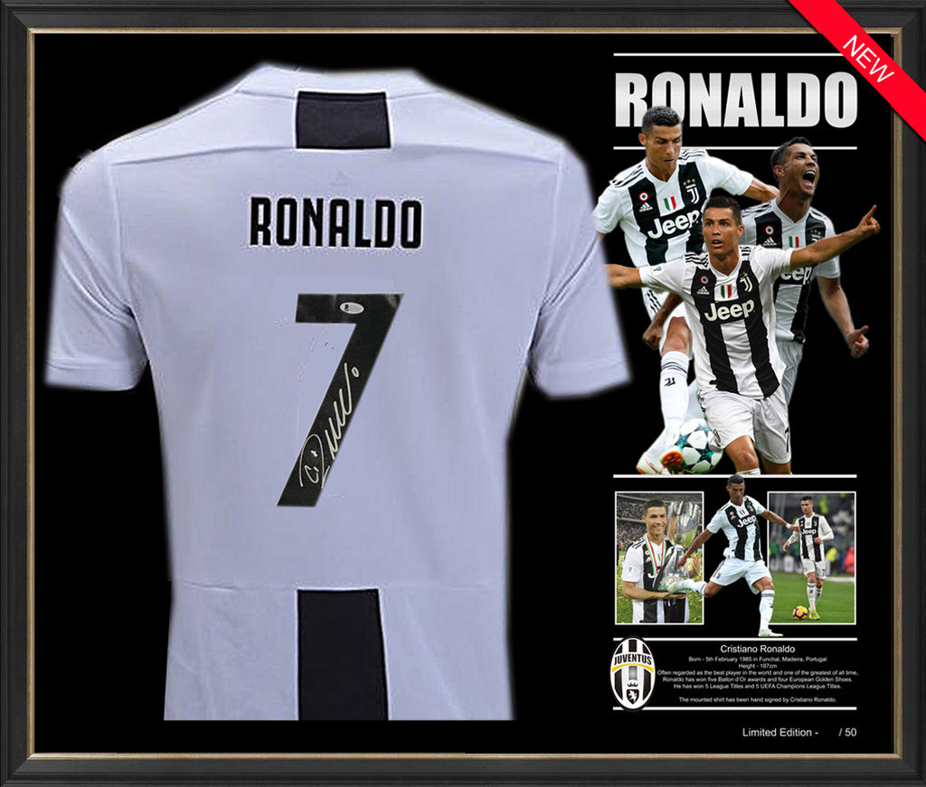 premium selection 95b76 feb53 Cristiano RONALDO Juventus SHIRT JERSEY SIGNED & FRAMED ...