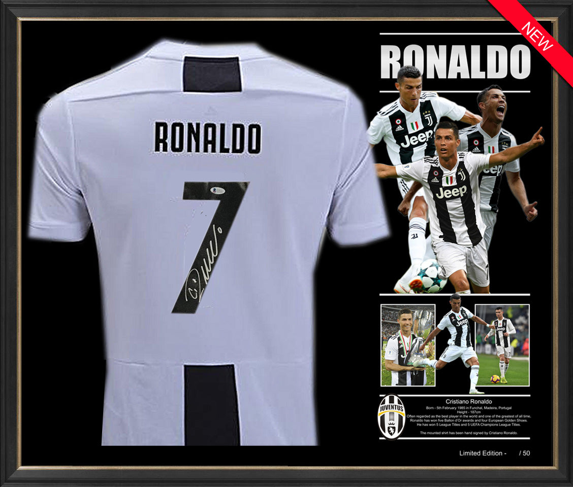 low priced cfefa c3231 Cristiano RONALDO Juventus SHIRT JERSEY SIGNED & FRAMED - Beckett USA  Authentication