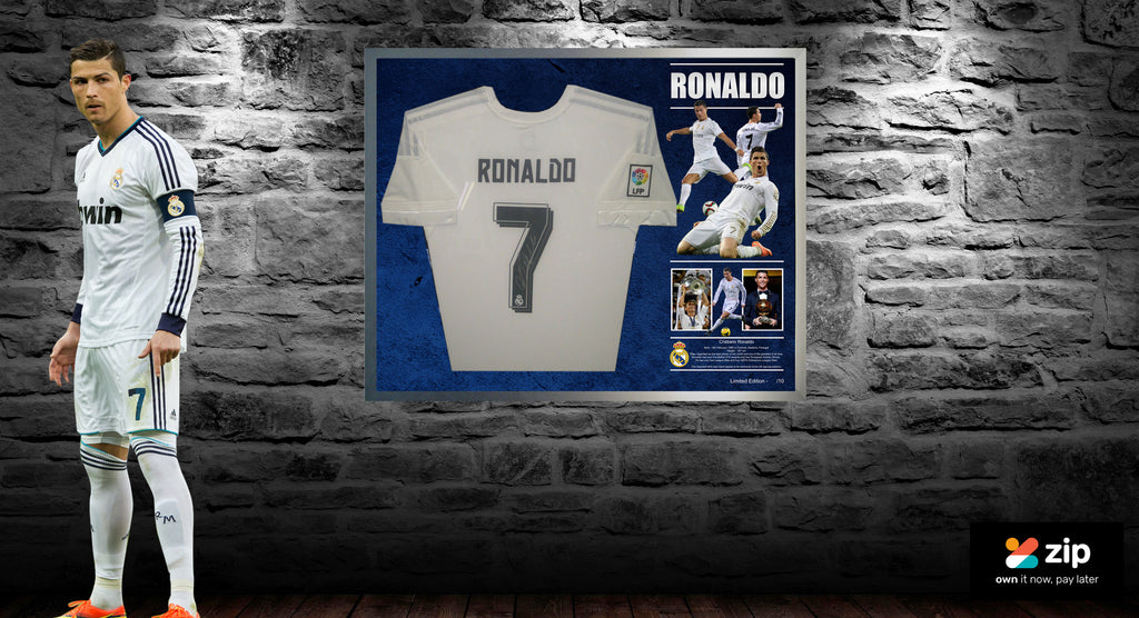 new style 3b0ae 5d8d5 Cristiano Ronaldo Signed & Framed Real Madrid Shirt Jersey ...