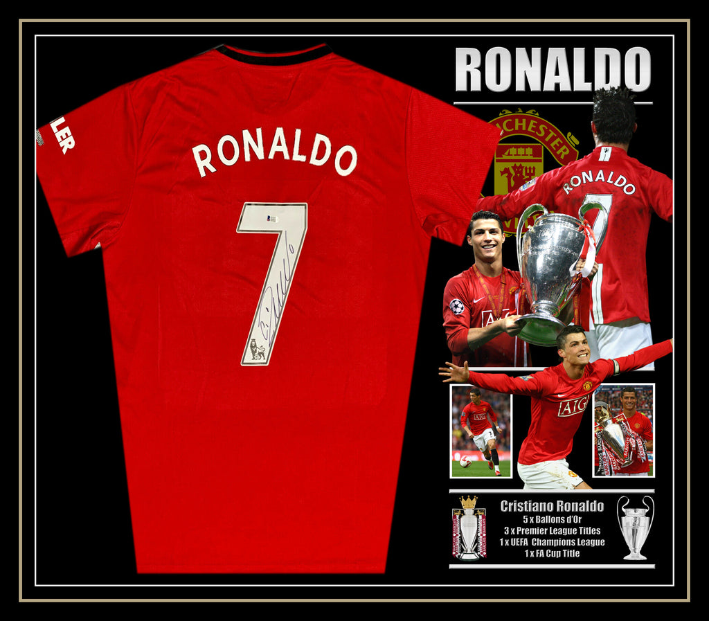 Cristiano RONALDO Manchester United Signed & Framed Shirt with Beckett Authentication
