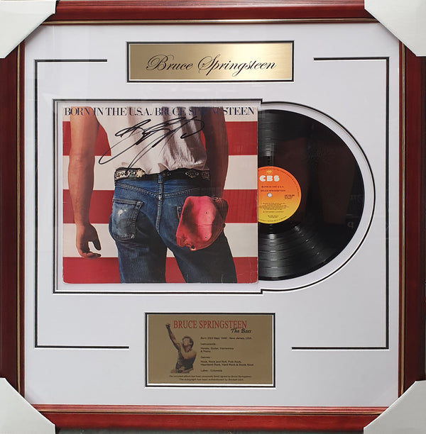 Bruce SPRINGSTEEN Born in the USA Signed & Framed Album Vinyl - Beckett Authentication