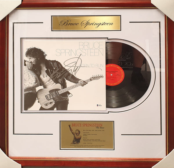 Bruce SPRINGSTEEN Born to Run Signed & Framed Vinyl Album - Beckett Authentication