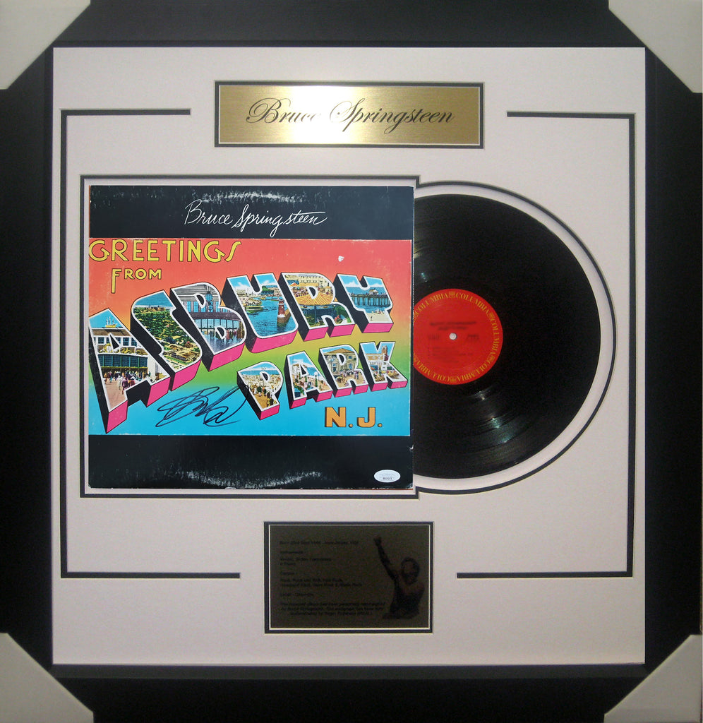 Bruce SPRINGSTEEN Welcome to Asbury Park Signed & Framed Vinyl Album B - James Spence USA Authenticated