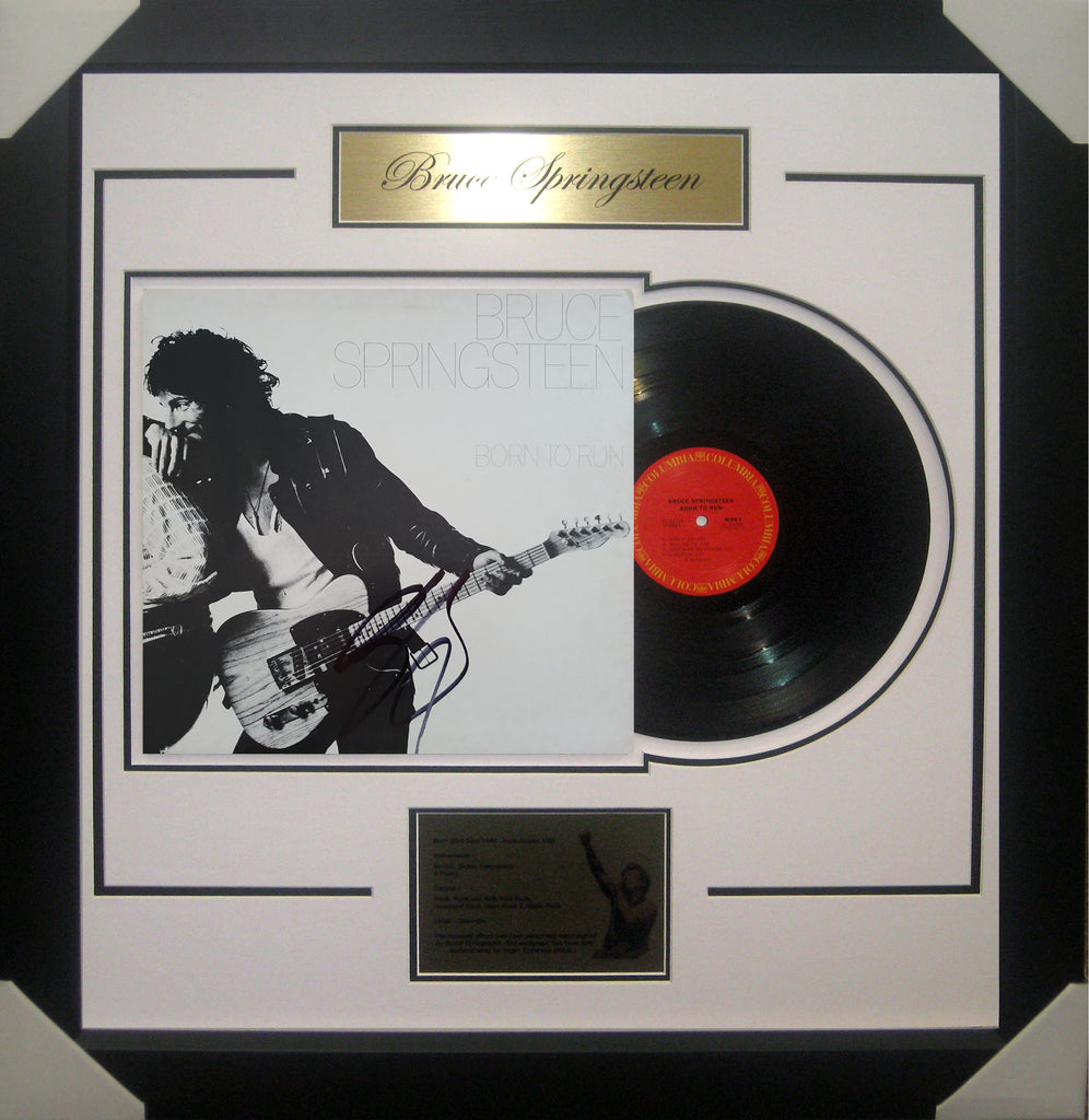 Bruce SPRINGSTEEN Born to Run Signed & Framed Vinyl Album - James Spence USA Authenticated