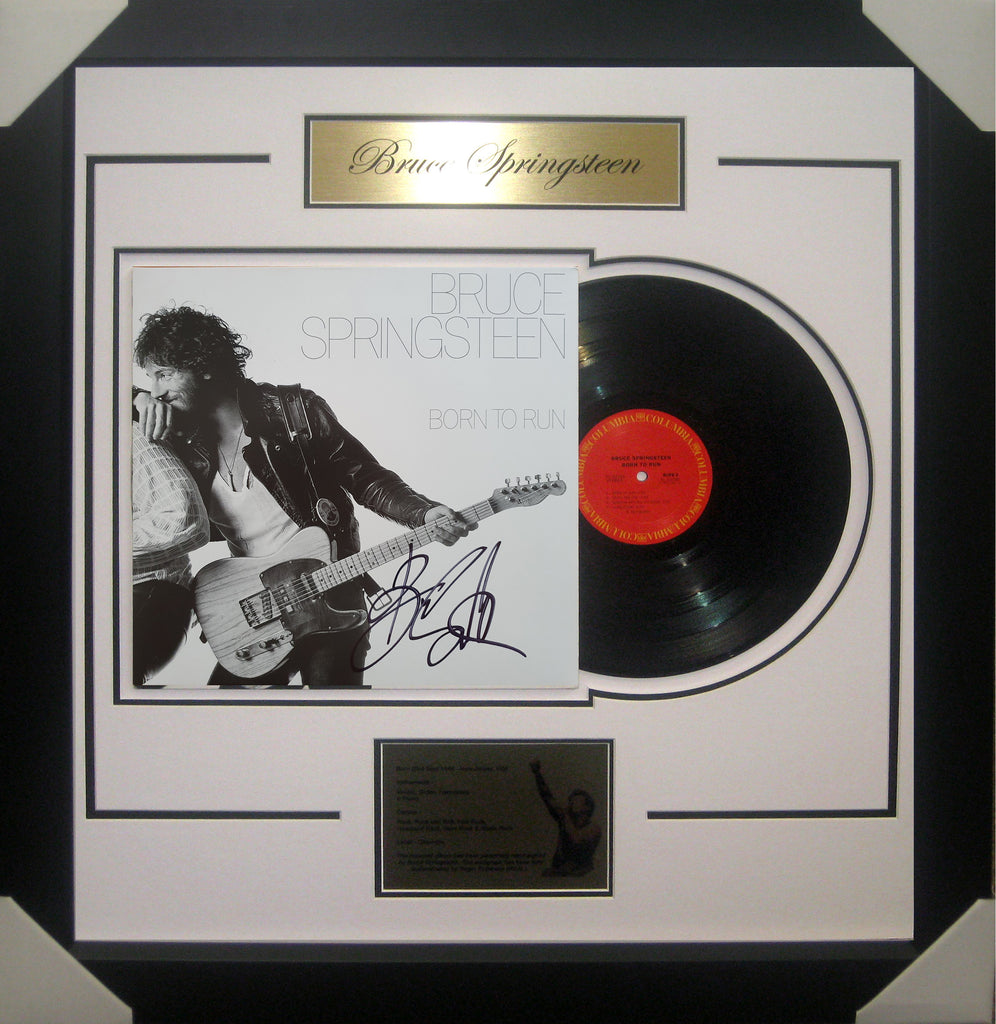 Bruce SPRINGSTEEN Born to Run Signed & Framed Vinyl Album B - James Spence USA Authenticated