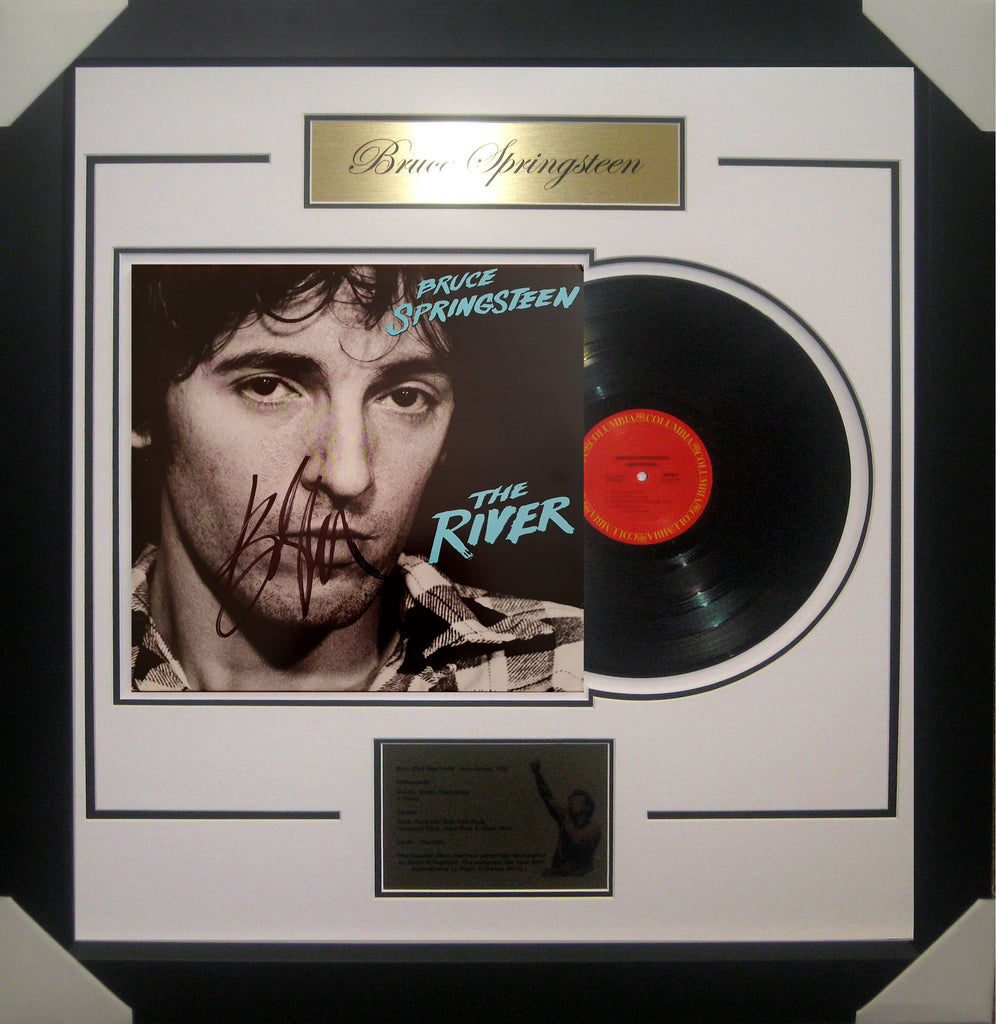Bruce SPRINGSTEEN The River Signed & Framed Vinyl Album - James Spence USA Authenticated