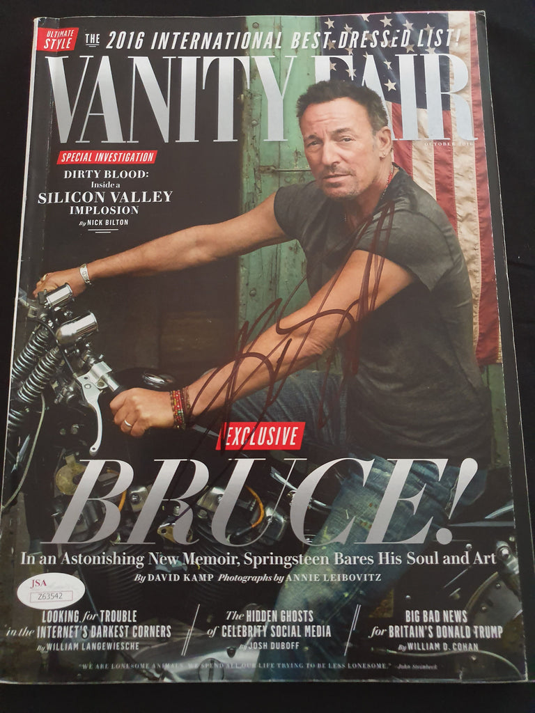 Bruce SPRINGSTEEN Signed Vanity Fair Magazine James Spence Authenticated JSA