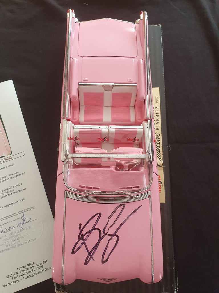 BRUCE SPRINGSTEEN – SIGNED PINK SCALE CADILLAC - FULLY AUTHENTICATED BY JAMES SPENCE JSA USA