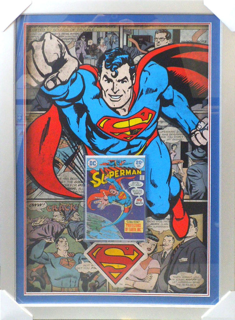 Superman Comic Case feat a silver age Comic Book