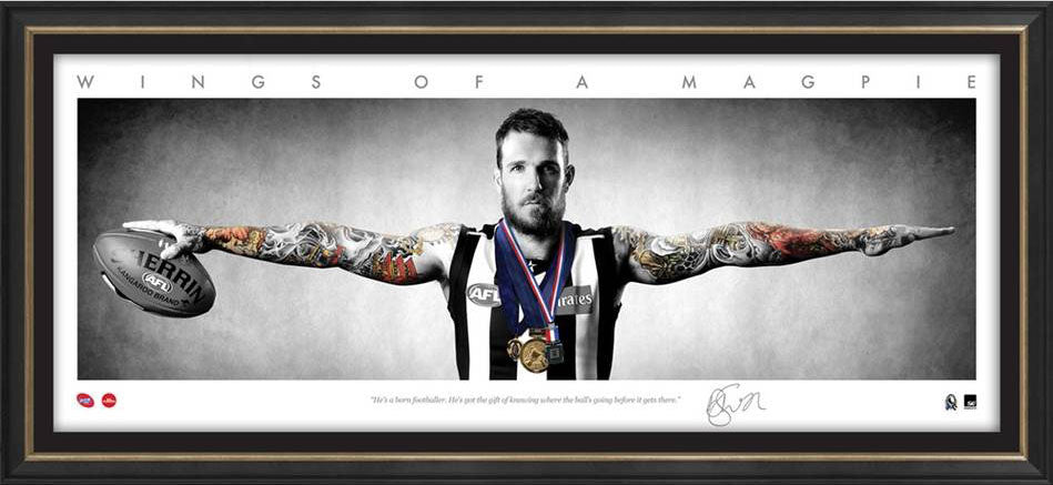 Dane Swan Collingwood AFL Framed Wings Tribute