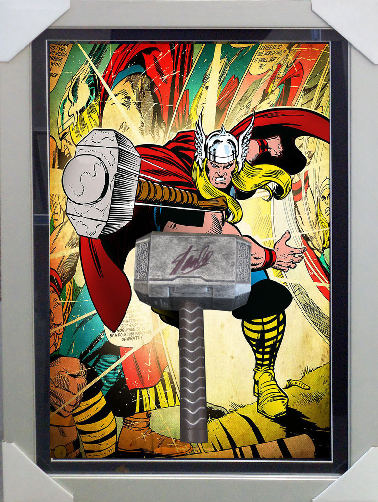 THE MIGHTY THOR REPLICA HAMMER PERSONALLY HAND SIGNED BY CREATOR STAN LEE