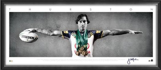Johnathan Thurston North Queensland Cowboys NRL Wings Framed