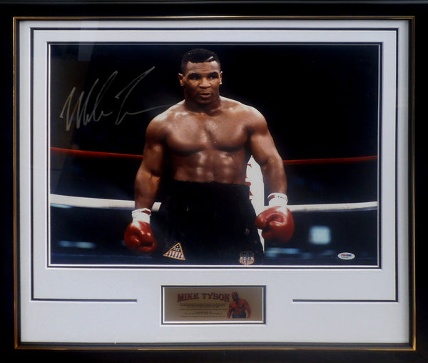 MIKE TYSON SIGNED & FRAMED 16X20 PHOTOGRAPH C PSA DNA AUTHENTICATED