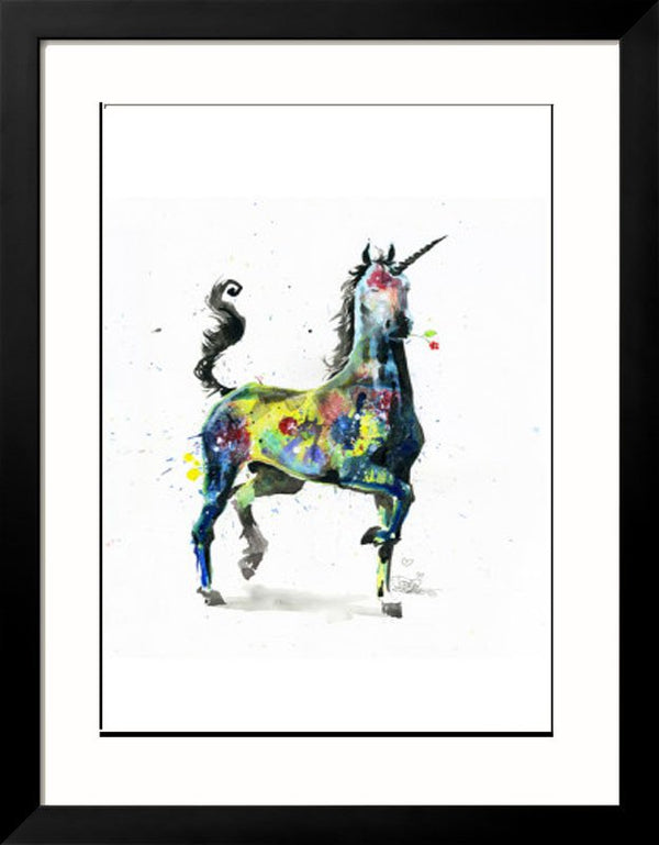 Unicorn Artprint Framed - Lora Zombie