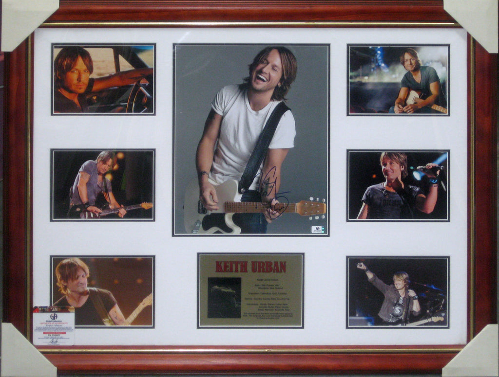 Keith Urban Signed & Framed Mega Collage Authenticated Global Authentics