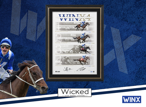 2018 Winx 4 Cox Plates Dual Signed & Framed Official Limited Edition Lithograph - Bowman Waller