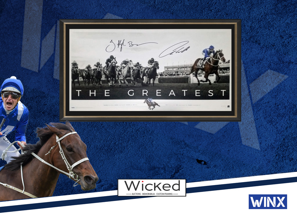 WINX THE GREATEST SIGNED & FRAMED HUGH BOWMAN & CHRIS WALLER LICENSED LTD EDITION