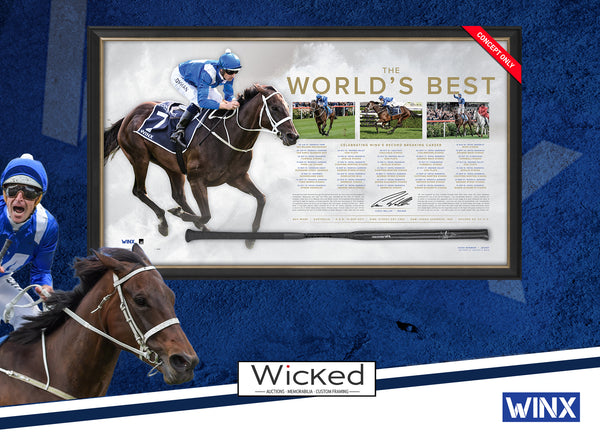 Winx - Dual Signed 'The World's Best' Retirement Limited Edition Horse Racing Whip