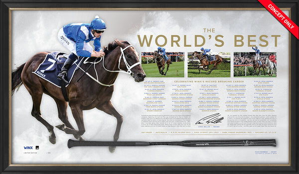 Winx - Dual Signed 'The World's Best' Retirement Limited Edition Whip