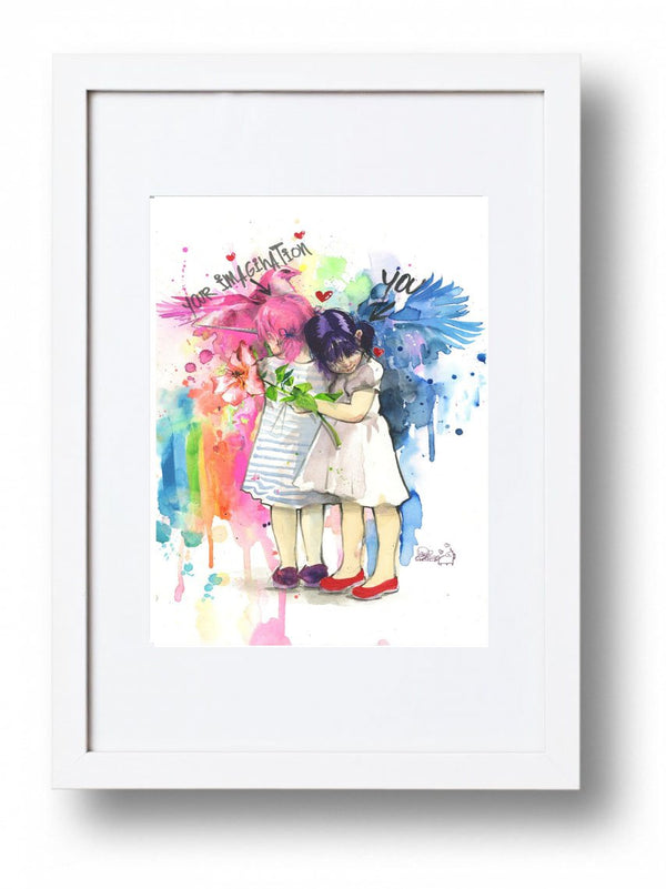 You and Your Imagination Artprint Framed - Lora Zombie