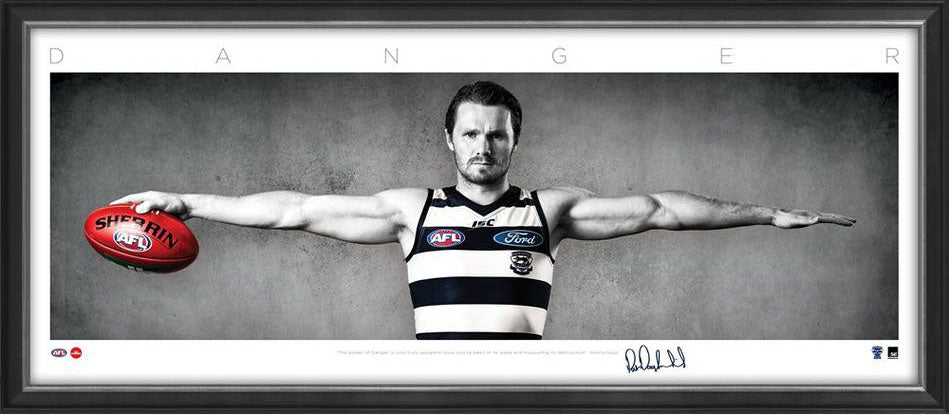Patrick Dangerfield Geelong AFL Framed Wings Tribute