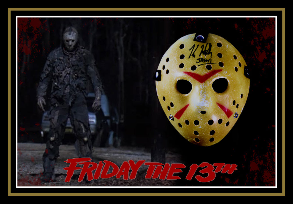 Jason 'Friday the 13th' Kane HODDER Signed & Framed Mask with James Spence USA Authentication