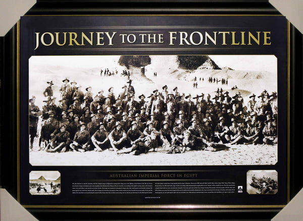 JOURNEY TO THE FRONT LINE LIMITED EDITION FRAMED - ANZAC GALLIPOLI TRIBUTE