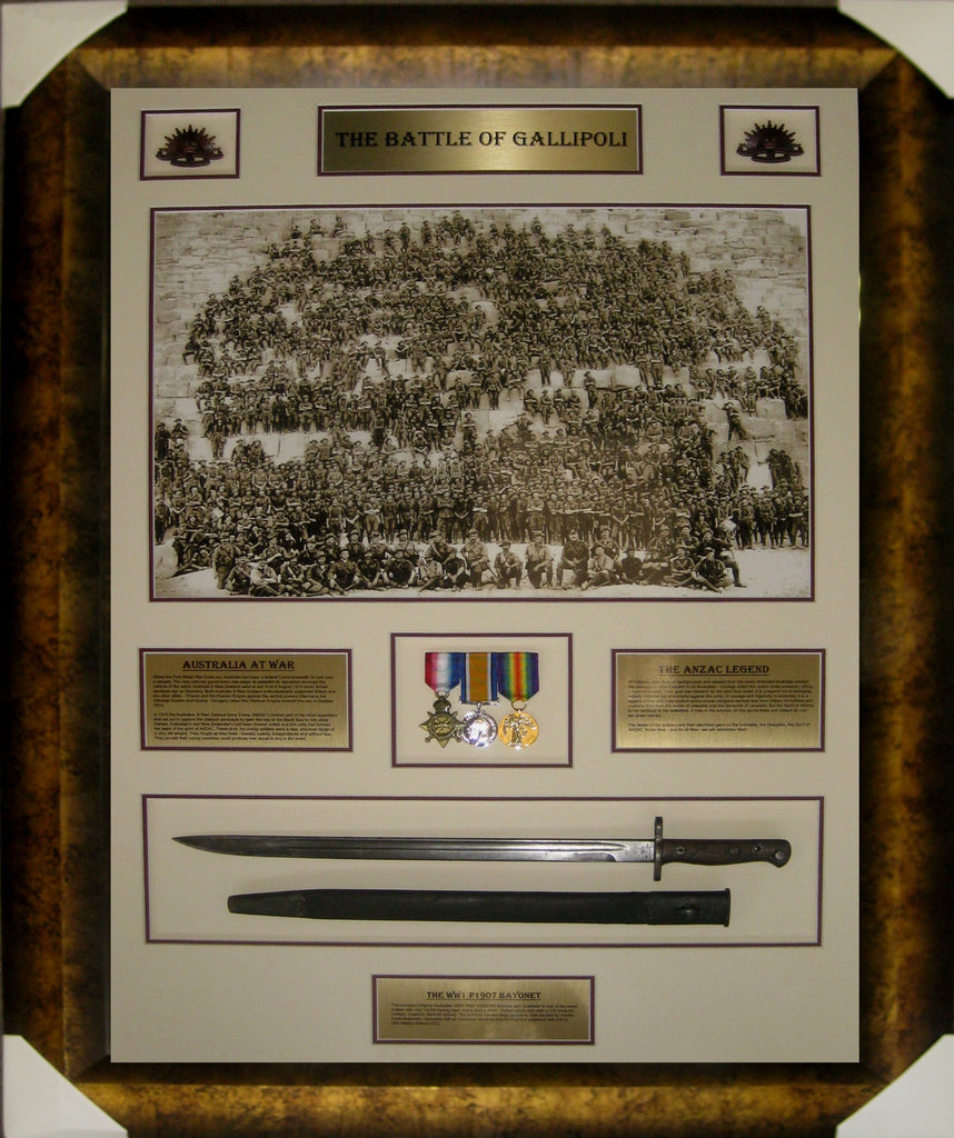 The Battle of Gallipoli - Feat. 1907 Australian Issued WW1 Bayonet and Replica WW1 War Medals