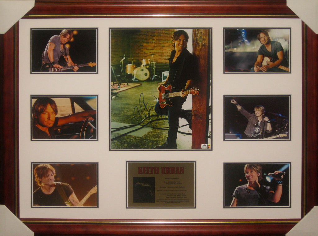 Keith Urban Signed & Framed Music Collage - Fully authenticated by Global Authentics GV822704