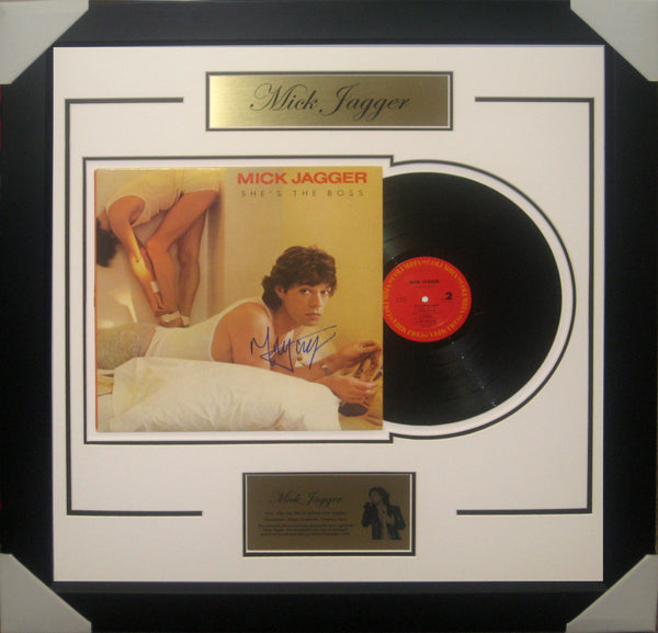 Mick Jagger Signed & Framed Vinyl Album - Fully authenticated by Global Authentics USA