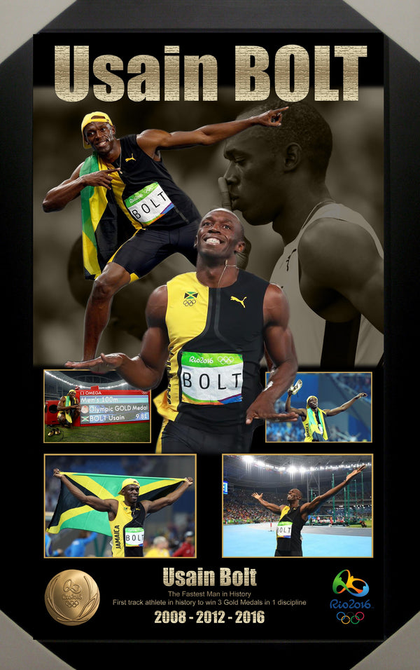 Usain Bolt Rio 2016 Olympics Framed Limited Edition Print