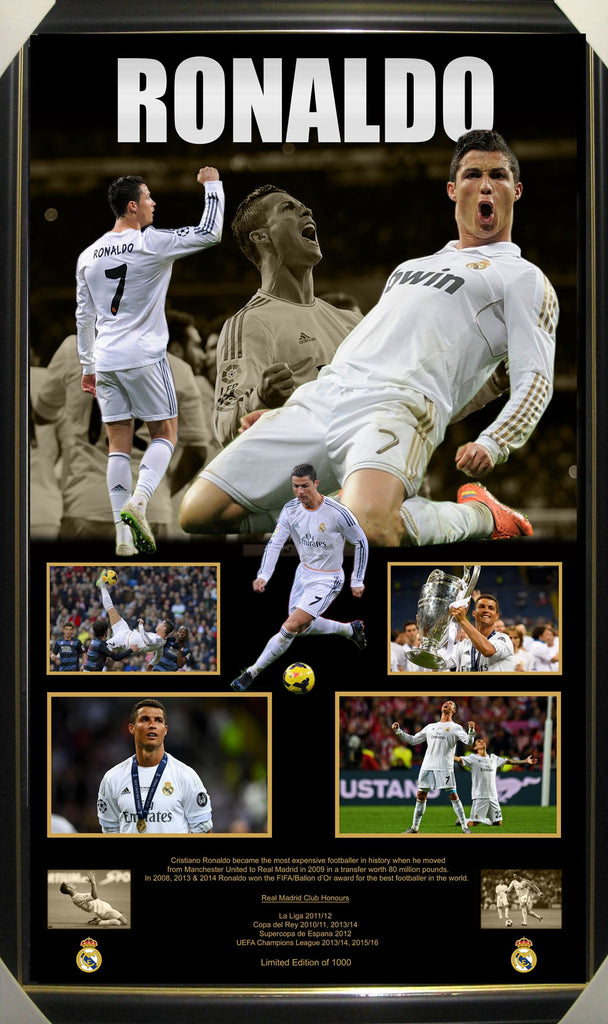 Cristiano Ronaldo Framed Limited Edition Football Lithograph