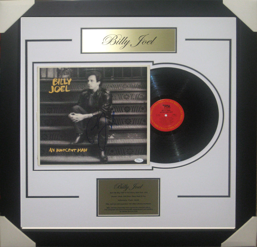BILLY JOEL - SIGNED & FRAMED VINYL AN INNOCENT MAN JAMES SPENCE JSA AUTHENTICATED