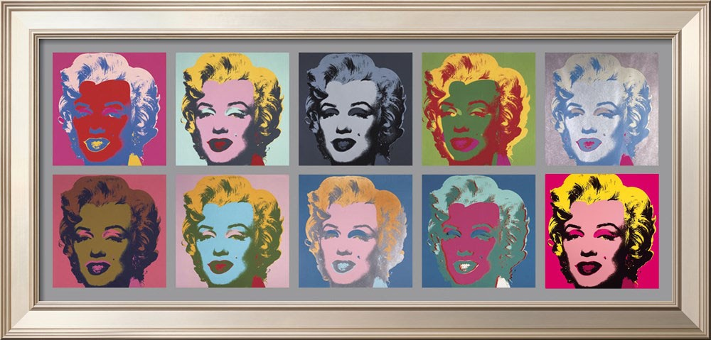 Ten Marilyns Fine Art print Framed - Andy Warhol