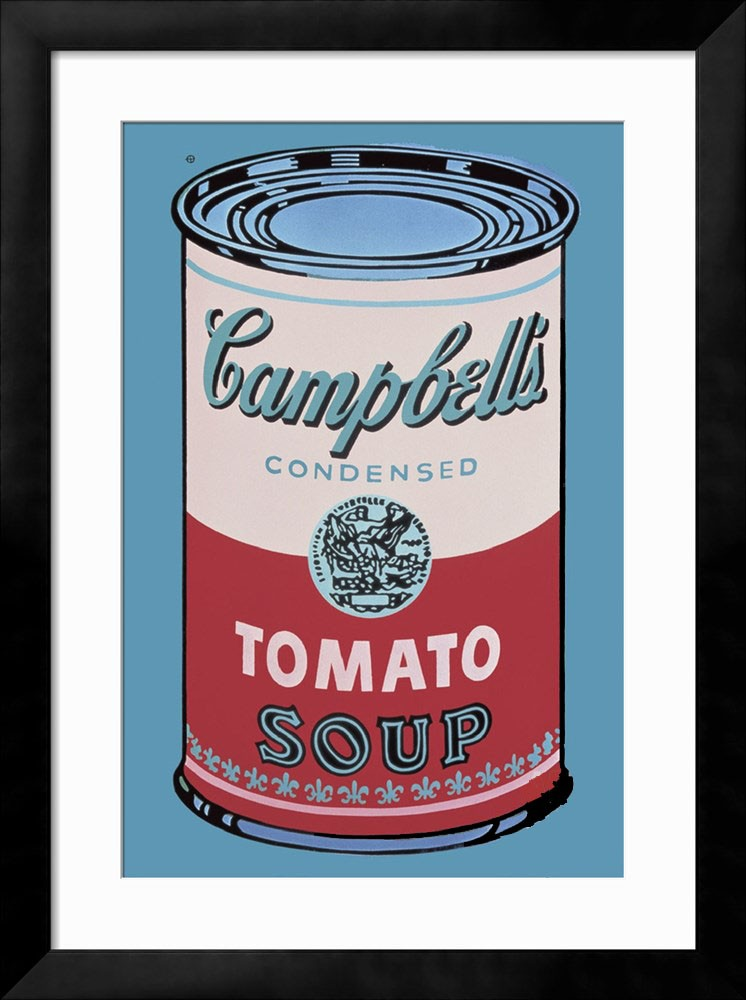 Campbells Soup Can 1965 (Pink and Red) - Andy Warhol Framed Fine Art Print