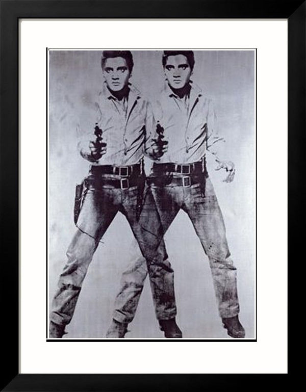 Two Elvis Framed Fine Art Print - Andy Warhol