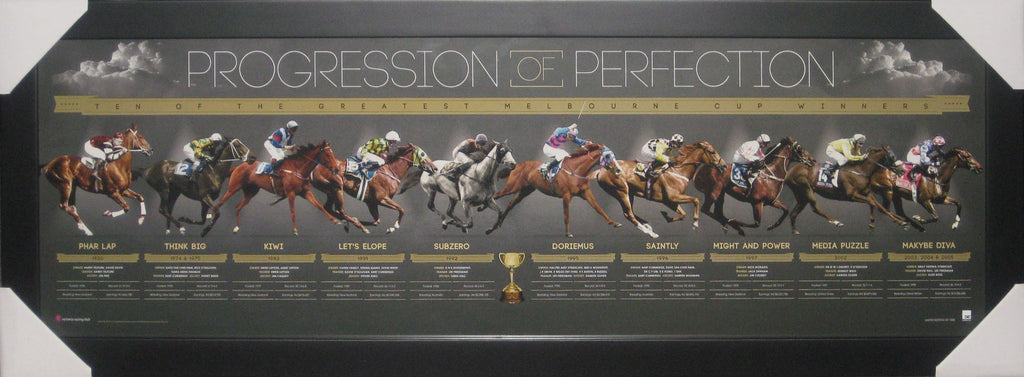 Progression to Perfection - The Melbourne Cup Winners - Limited Edition Tribute