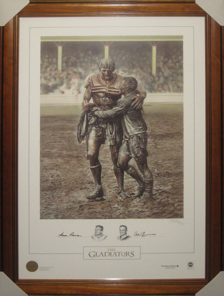 The Gladiators - Provan & Summons Signed NRL Limited Edition Tribute